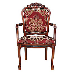 "Design Toscano 42"" Crown Hill Baroque-Style Chair"