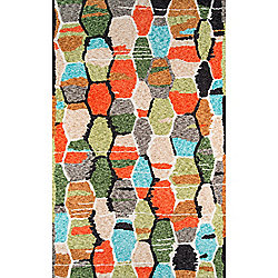 "The Novogratz ""Tiles"" Multi Colored Rug"