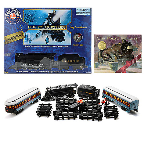 Lionel Trains Polar Express Ready-to-Play Large Gauge Train Set w/ Book on  sale at evine com