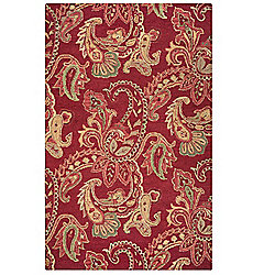 Rizzy Home Ashlyn Choice of Size Hand-Tufted 100% Wool Paisley Rug