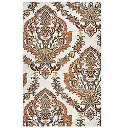 Rizzy Home Ashlyn Choice of Size Hand-Tufted 100% Wool Ornamental Rug