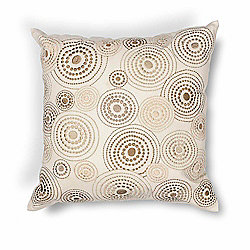 "Donny Osmond Home 18"" Ivory Concentric Handmade Decorative Pillow"