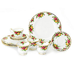 Royal Albert Old Country Roses 12-Piece Bone China Dinnerware Set