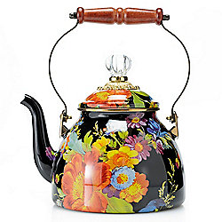 MacKenzie-Childs Hand-Decorated Enamelware Tea Kettle