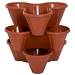 Pure Garden Set of 3 Indoor / Outdoor Stackable Planters