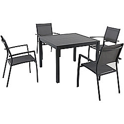 Hanover Outdoor Furniture Naples 5-Piece Square Dining Set