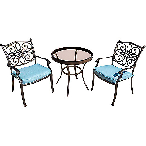 468 642 Hanover Outdoor Furniture Traditions 3 Piece Blue Chairs 30