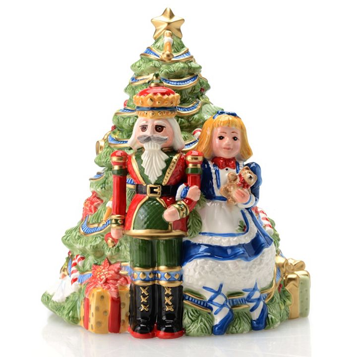 Collectibles - 469‑067 FITZ AND FLOYD First Ladies by Coleen Christian Burke 10.5 Nutcracker Cookie Jar