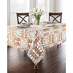 469-172 Waterford Octavia Choice of Size Leaf Print Tablecloth - 469-172