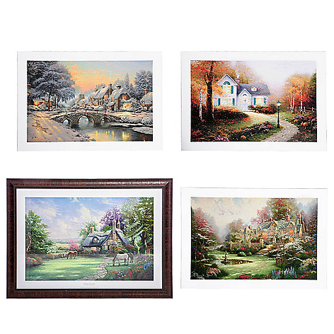 Thomas Kinkade Studios EZ Frame w/ 4 Best-Loved Seasonal Prints - EVINE