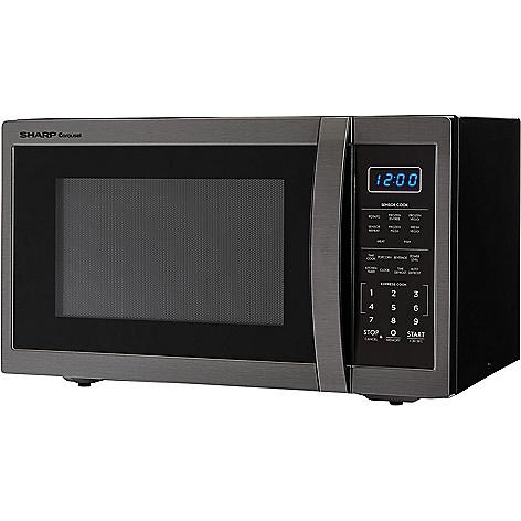 470 068 Sharp Carousel 1 4 Cu Ft 1100w Countertop Black Stainless Steel Microwave