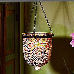 "Passport Collection Rio Lights 12.5"" Multi-Color Mosaic Hanging Lantern"