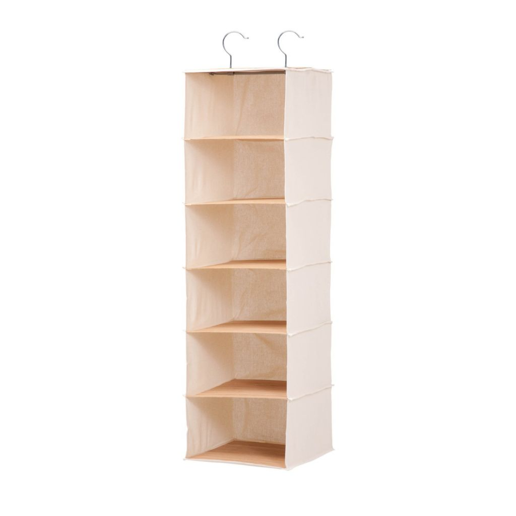 471 367  Honey Can Do 6 Shelf Hanging Closet Organizer