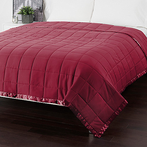Cozelle Down Alternative Satin Trimmed Quilted Blanket Evine - Quilted-blankets-for-the-bed