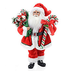 Karen Didion Originals Candy Cane Santa Hand-Decorated 17 Collectible - 471-804