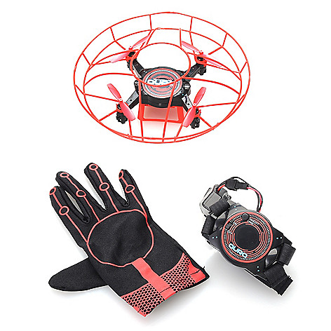 Aura Gesturebotics, Quadcopter Drone, w/ Safety Cage &, Gesture-Activated,  Glove Controller on sale at evine com