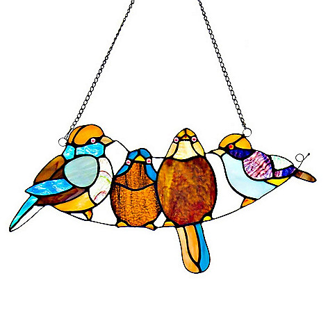472 412 Tiffany Style 8 Song Bird Stained Gl Window Panel