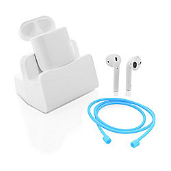 Headphones & Bluetooth Speakers - Apple® AirPods Wireless Bluetooth In-Ear Headphones w Neck Cord & Case Dock - 472-439