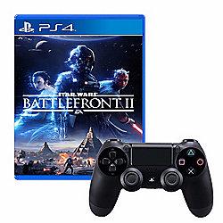 PlayStation DualShock 4 Wireless Controller w Star Wars Battlefront 2 Game - 472-498