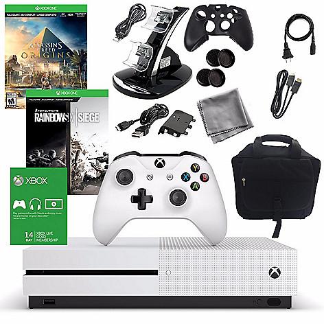 Microsoft 1TB Xbox One S w/ Assassin's Creed: Origins, Rainbow Six: Siege &  Accessories Kit Bundle on sale at shophq com