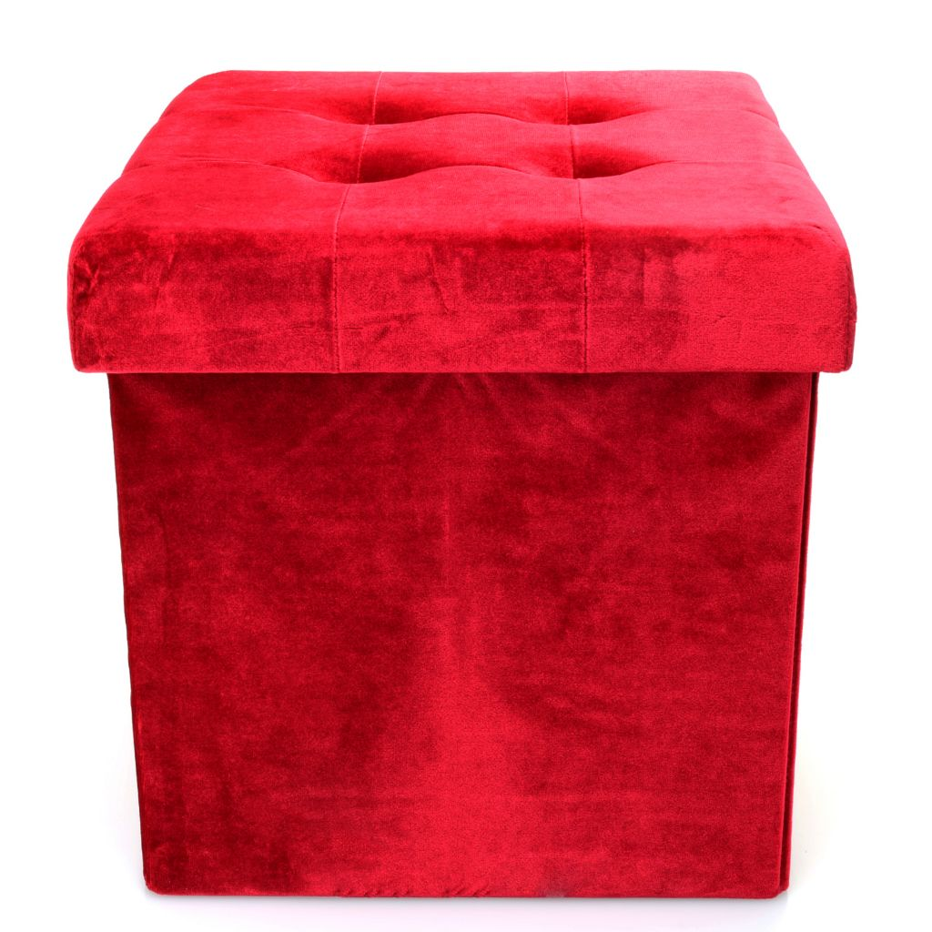 472-625- Simply Store 15  Collapsible Velvet Ottoman Storage Cube  sc 1 st  Evine & Simply Store 15