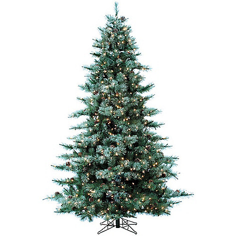 472 637 fraser hill farm choice of size glistening pine artificial christmas tree w