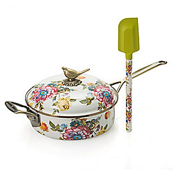 Cookware & Bakeware 472-705 MacKenzie-Childs 3 qt Hand-Decorated Sauté Pan w Spatula - 472-705