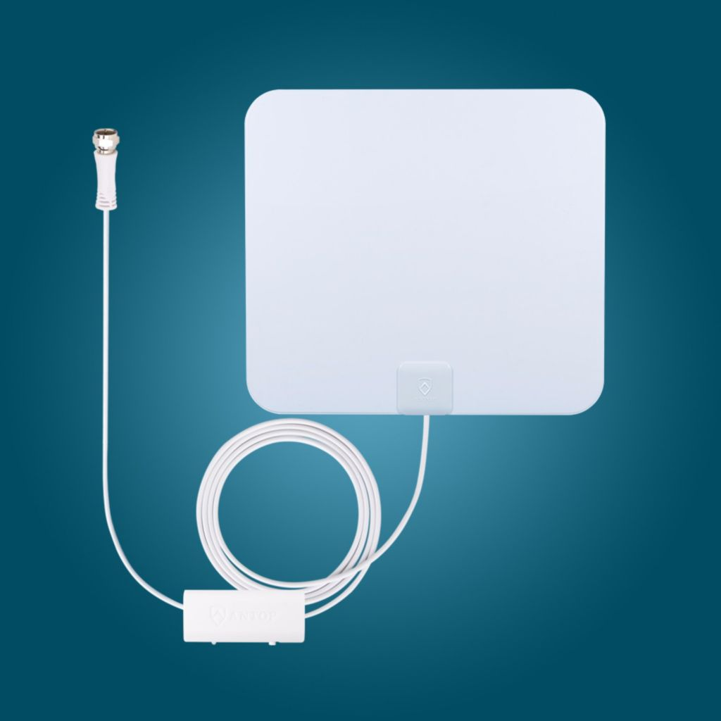 Antop At 125b Paper Thin Smartpass Amplified Indoor Hdtv Antenna Evine