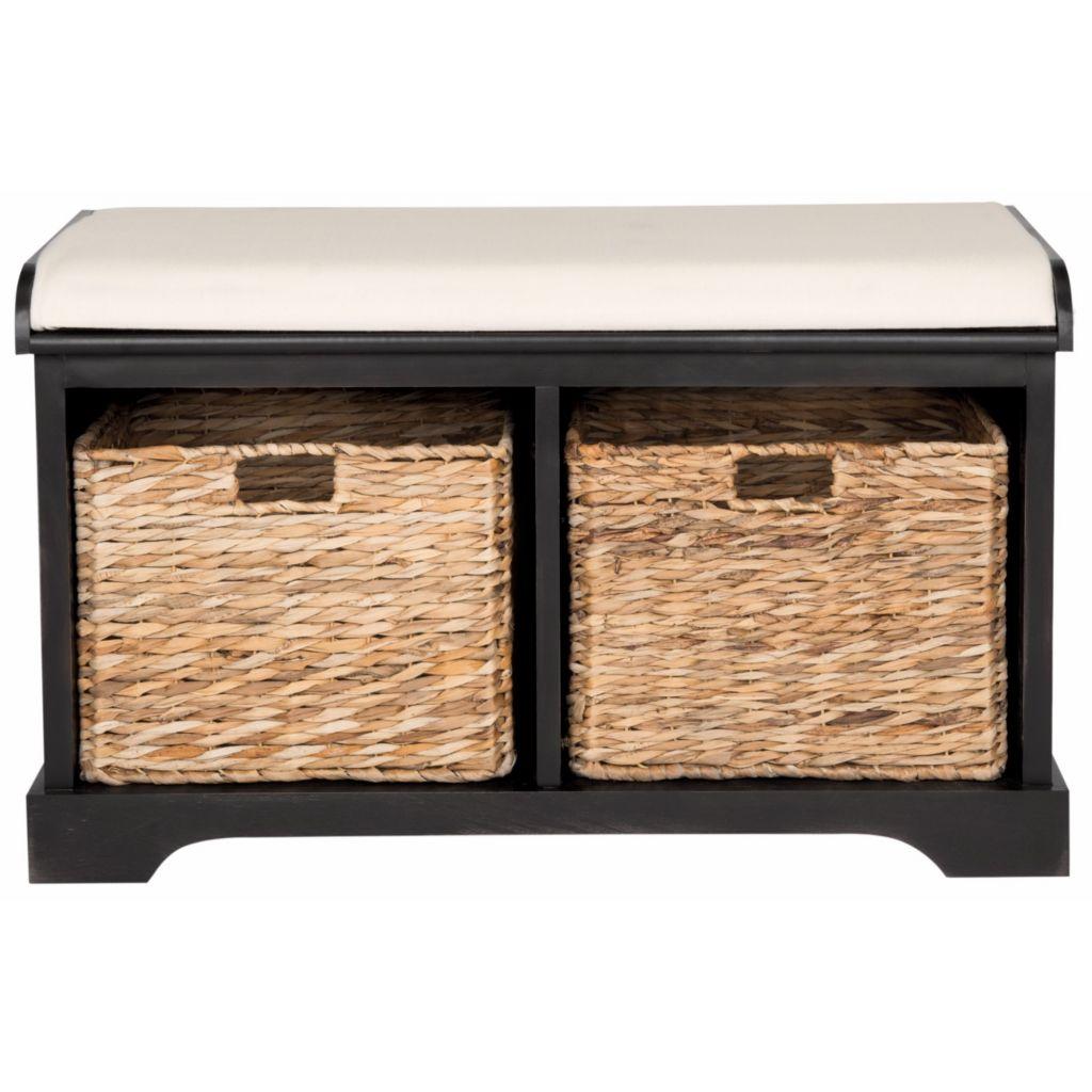 Safavieh Freddy Choice Of Color Storage Bench W Wicker Baskets