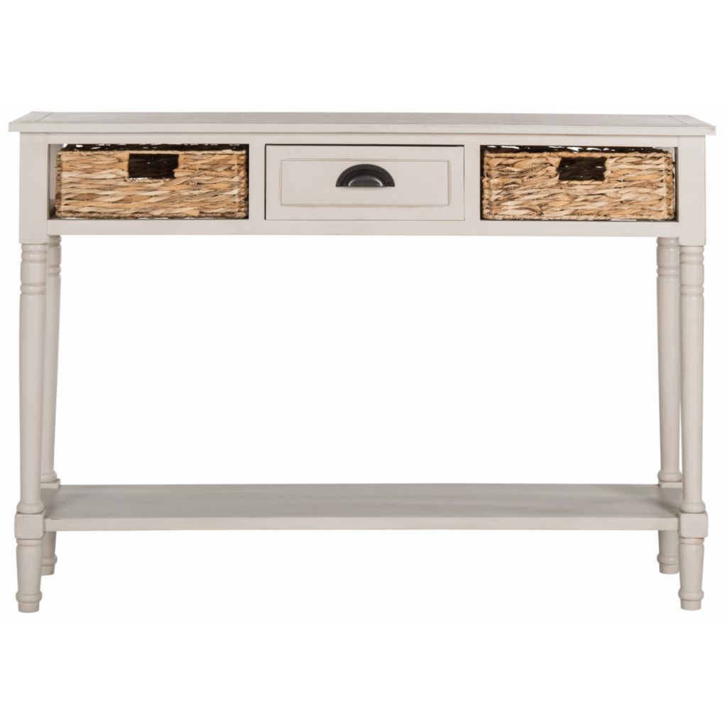 Safavieh Christa Choice Of Color Console Table W Wicker Baskets Evine
