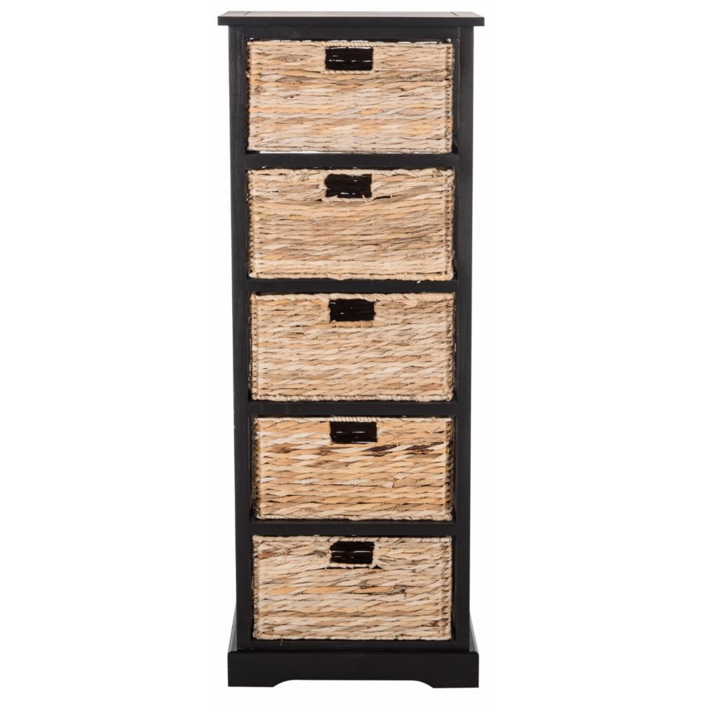 473 091  Safavieh Vedette Choice Of Color Storage Tower W/ Wicker Baskets