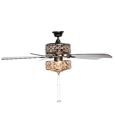 474 038 Style At Home With Margie 52 Double Lit Gl Crystal Ceiling