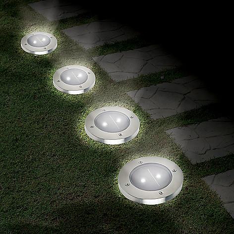 Ideaworks Set Of 4 5 Lumen Solar Pathway Lights