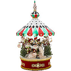 "Mark Roberts 41"" Limited Edition Peppermint Big Top Carousel"