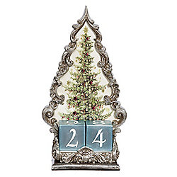 "Mark Roberts Christmas Tree 10.5"" Calendar w/ 2 Date Die"