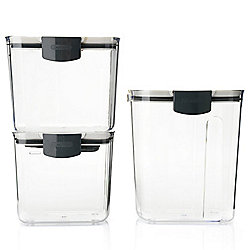 Progressive Prepworks 3-Piece ProKeeper Sugar Storage Set