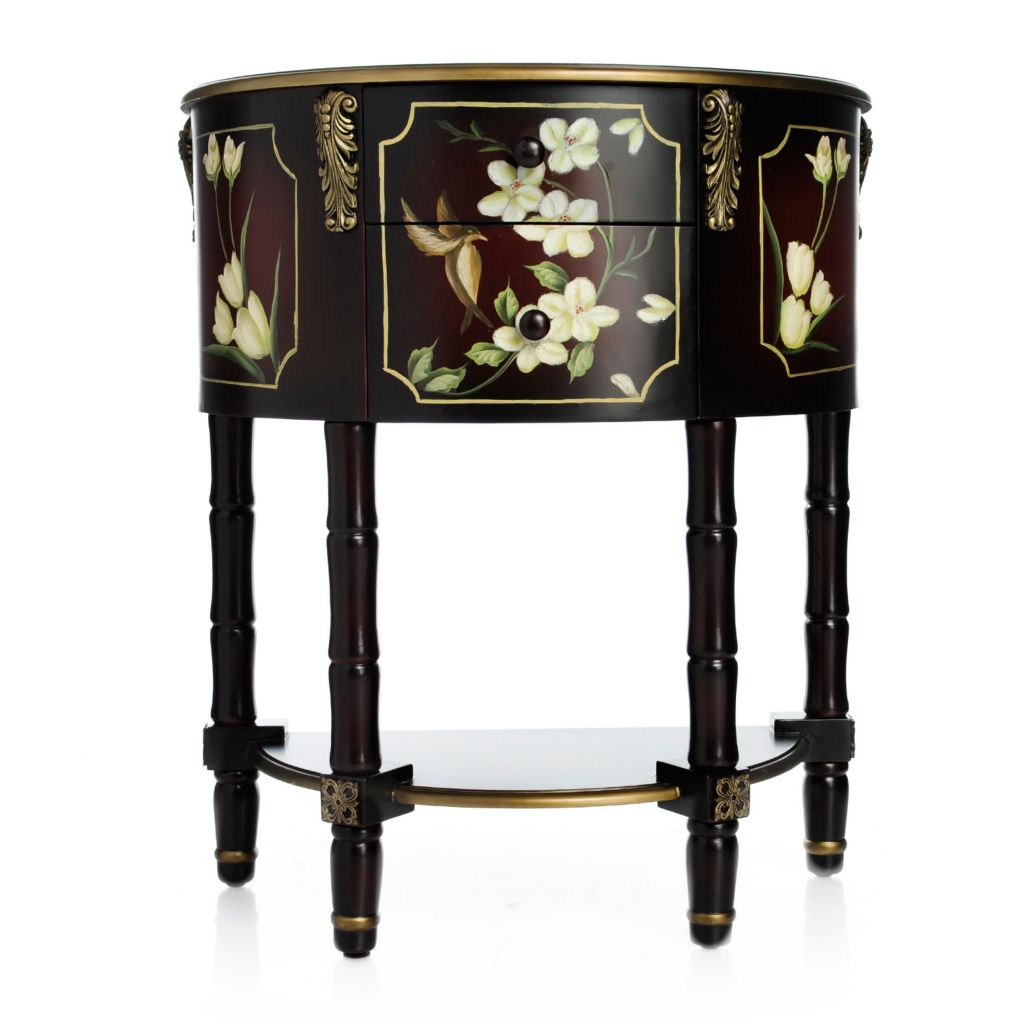 Super Style At Home With Margie 32 Hand Painted Bird Flower 2 Drawer Console Table Pdpeps Interior Chair Design Pdpepsorg