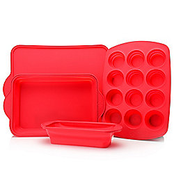 Cook's Companion® 4-Piece Collapsible Silicone Bakeware Set - 476-579