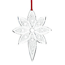 Shop by Collection - 476-609 Waterford Crystal Snowstar 5 Ornament w Hanging Ribbon - 476-609