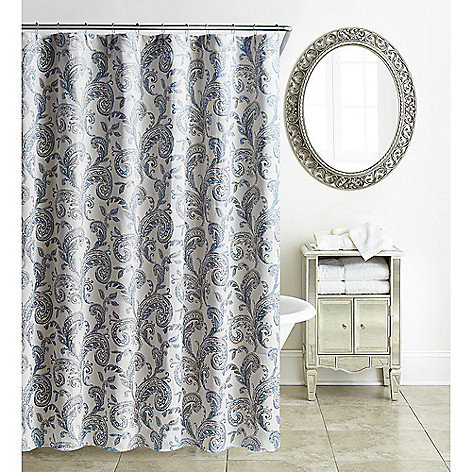 Waterford Florence 72 Chambray Blue Shower Curtain