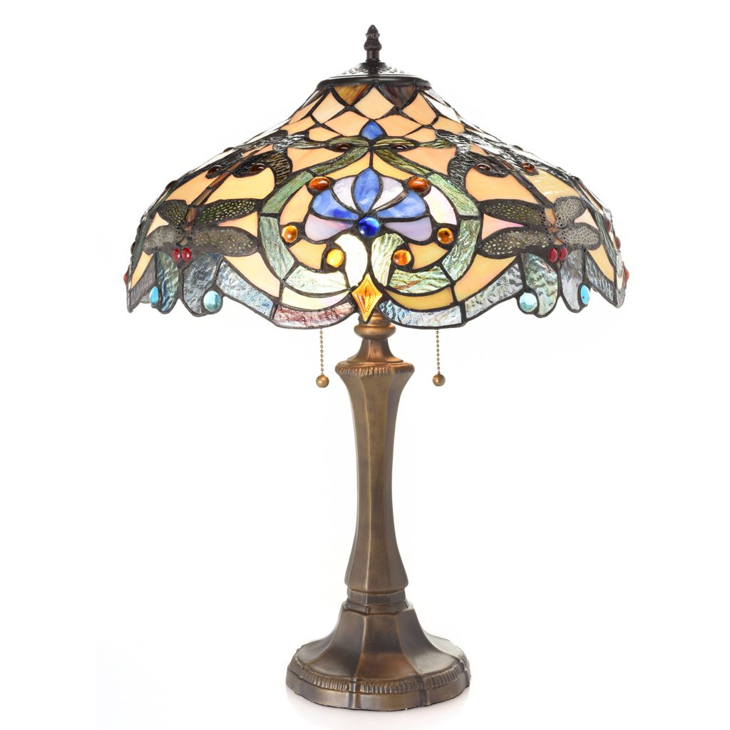 Tiffany Style 22 75 Baroque Dragonfly Stained Glass Table Lamp Evine