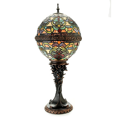 476 933 Tiffany Style Empress Orb 27 Stained Gl Table Lamp