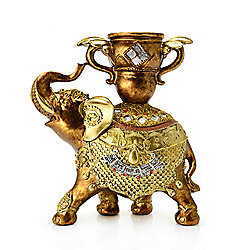 Style at Home with Margie 7.75 Elephant Candle Holder Accent Figurine - 476-969