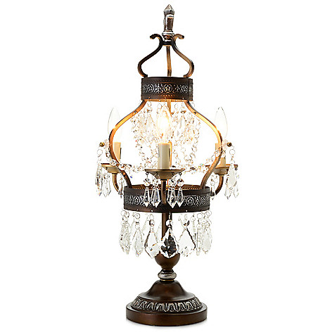 Style At Home With Margie 25 5 Antique Chandelier Table Lamp Shophq