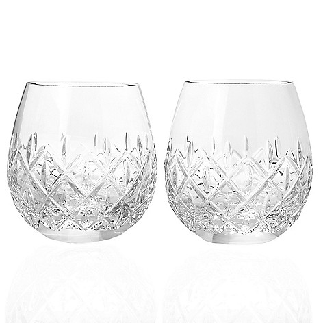 204f8449b95 Waterford Crystal Astor Set of 2 (14 oz) Stemless Wine Glasses - EVINE