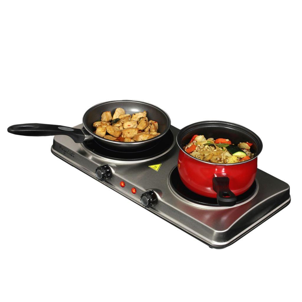 477 218  MegaChef Dual Infrared Burner Portable Electric Cooktop