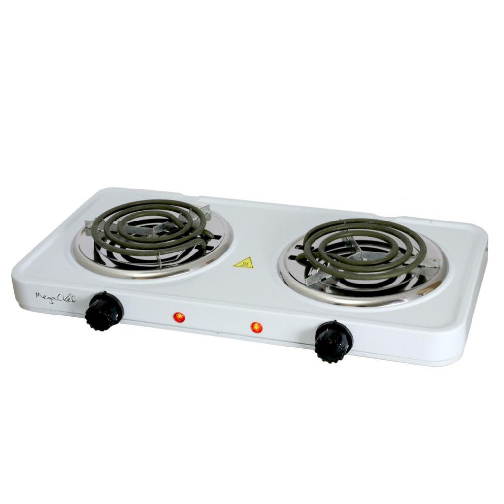 477 219  MegaChef Dual Coil Burner Portable Electric Cooktop