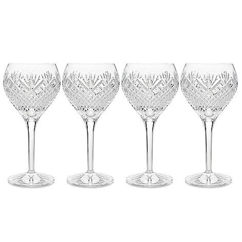 d146330887b Waterford Crystal Sullivan Set of 4 Wine Glasses or Goblets - EVINE