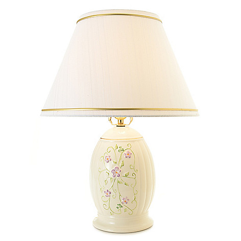 Belleek 19 Irish Flax Hand Painted Porcelain Table Lamp