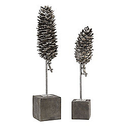 Home Accents at Evine - Uttermost 'Longleaf' Set of 2 Pine Cone Sculptures - 477-607 - 477-607
